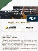 Como garantizar la rentabilidad  09062016. Analdex Bogotá.pdf