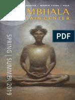 Spring  - Summer 2019 Catalog Shambhala Mountain Center