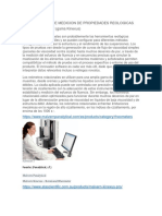 Instrumentos de Medicion de Propiedades Reologicas