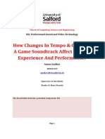 How Changes in Tempo & Genre of a Game Soundtrack Affect Gaming Experience and Performance