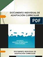 Documento Individual de Adaptación Curricular Ppt