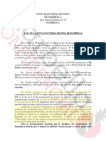 Documento Junta Electoral de  Zona