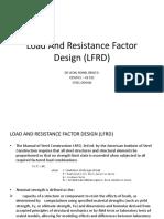 Load and Resistance Factor Design LFRD