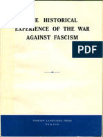 THE HISTORICAL  EXPERIENCE OF THE WAR  AGAINST FASCISM