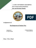 The dangerous of nuclear war