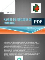 Manual de Funciones de Una Farmacia