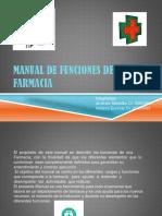 Manual de Funciones de Una Farmacia