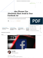 5 Forbidden Phrases You Absolutely Must Avoid in Your Facebook Ads