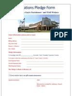 new pledgge form