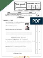 Devoir de Contrôle N°2 - Sciences physiques - 1ère AS  (2010-2011)  Mme liala 2.pdf