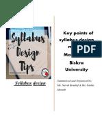 Syllabus Design 4