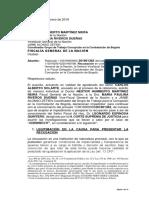 Nueva recusación contra fiscal Martínez por caso Odebrecht