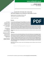 Carrillo, C - Implementación de técnica de extracción de leche humana con extractor conectado al vacío