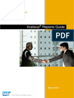 SAP Sourcing OnDemand  Xcelsius reports