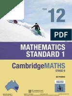 Cambridge Mathematics Standard 2 Yr12