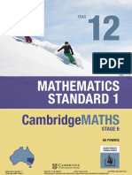 Cambridge Mathematics Standard 2 Yr12