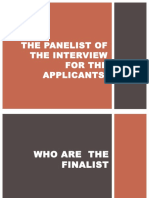 The Panelist of the Interview for the Applicants.pptx