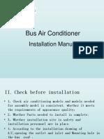 Bus Air Conditioner Installation