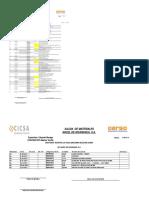 Plantilla de Diario Salida de Material.