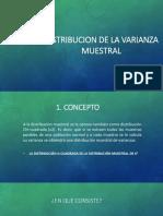 Distribucion de La Varianza Muestral