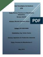 Buenas Prácticas de Manufactura alimenticia..docx