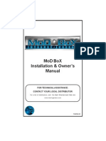MoD BoX Installation & Owner's Manual