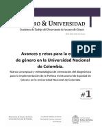 Género y Universidad. Cuadernos de trabajo del Observatorio de Asuntos de Género