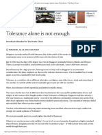 Tolerance Alone is Not Enough