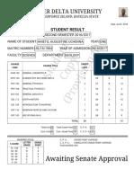 ANIETO Second Semester Result
