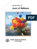 14. Manufacture of Balloons