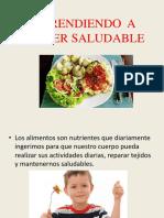 Aprendiendo  a comer saludable