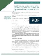 Neosporose Caprino Alagoas 2015