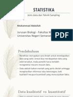 Data Dan Teknik Sampling