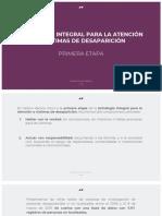 Estrategia Integral para la Atención a Víctimas | Primera etapa