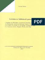 Traian Golea - Lichidarea bibliotecii personale - 1997