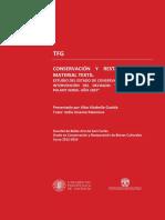 ALTABELLA - Conservación y Restauración de Material Textil. Estudio Del Estado de Conservación y ...