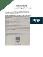 SOLID MENSURATION TAKEHOME QUIZ 3 ( V = 13 Bh)