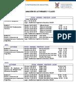 Programación de Actividades y Clases
