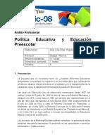 3 Politica educativa y educación preescolar