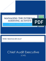 Managing the Internal Auditing Activity