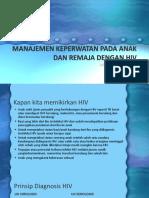 Manajemen Keperwatan Pada Anak Dan Remaja Dengan Hiv