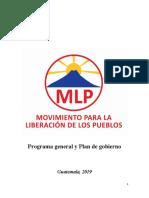 Mlp Programa General y Plan de Gobierno