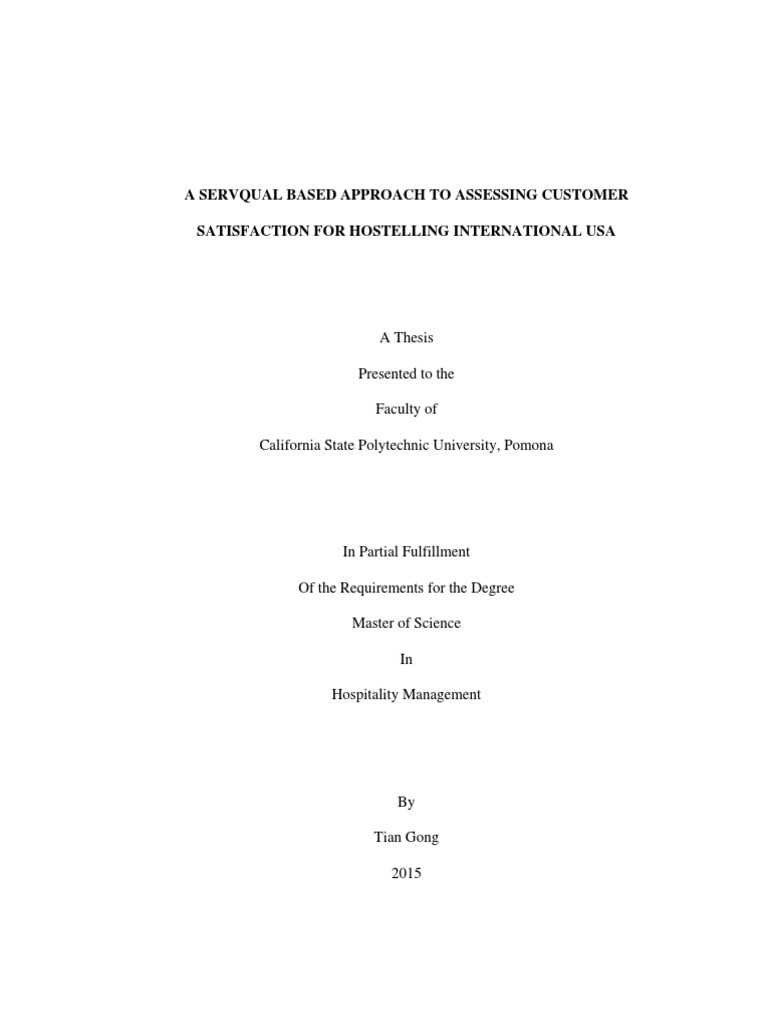 Thesis on servqual