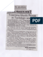 Peoples Journal, Mar. 21, 2019, Tolentino blasts Roxas in Tacloban sortie.pdf