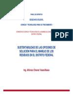 Sustentabilidad de Las Opciones de Solución Para El Manejo de Los Residuos en El Distrito Federal