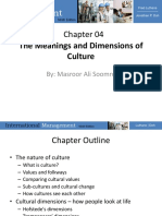 Lecture 2 the Meanings and Dimensions of Culture New