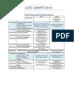 Programa CAMPti 2014