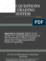 Four Questions in Grading System