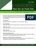 Bismi Khalidin_Media Syariah Vol 19 No 1 2017_Pengaruh Suku Bunga Terhadap Kinerja Perbankan Syariah Di Aceh