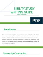 Project Feasibility Writing Guide